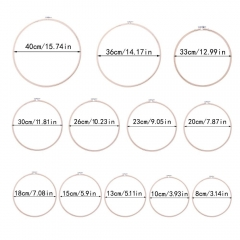 Embroidery Hoops Bamboo Circle Cross Stitch Hoop Ring for Embroidery and Cross Stitch