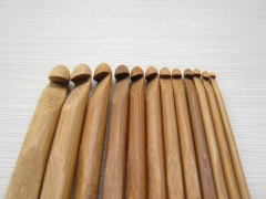 2.0 to 12.0 mm, 15cm long Crochet Hooks Bamboo Knitting Needles, yarn knitting china manufacturer