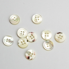 Beautiful Shell Resin Button For Clothes Eye Buttons