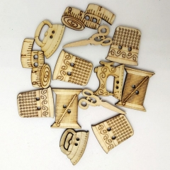 50pcs Multi-style Wooden cutouts wooden shapes wooden slices