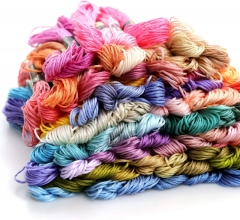 Embroidery floss friendship bracelet string 100 skeins multi-color cross stitch thread with color numbers